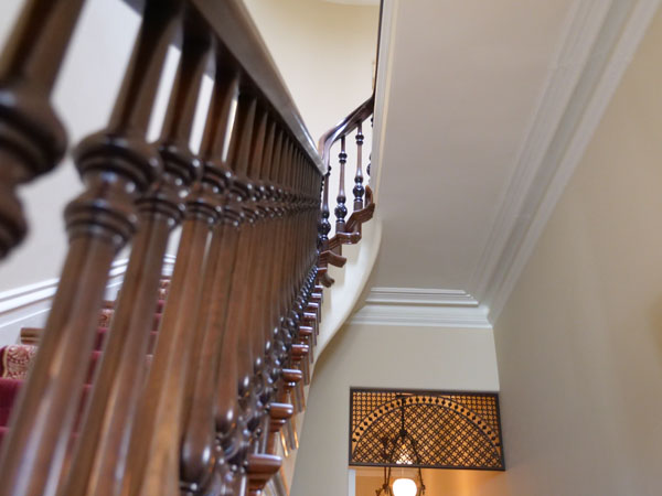 Railing Restoration in High Victorian Home Built in 1878
