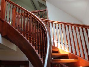 Custom Wooden Staircase and Spiral Staircase Master Woodworker Oakland Berkley San Francisco Lou Kern